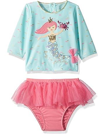 836efeaebb Mud Pie Baby Girls Mermaid Ruffle Rash Guard 2 Piece Swimsuit