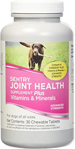 Sentry Joint Health Supplement Plus Vitamins Minerals Advanced Strength 30 chewable Tablets