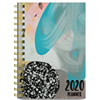 2020 Abstract Soft Cover Academic Year Day Planner Book by Bright Day September...