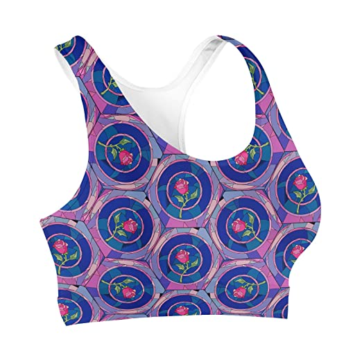 Stained Glass Rose Disney Inspired Sports Bra at Amazon