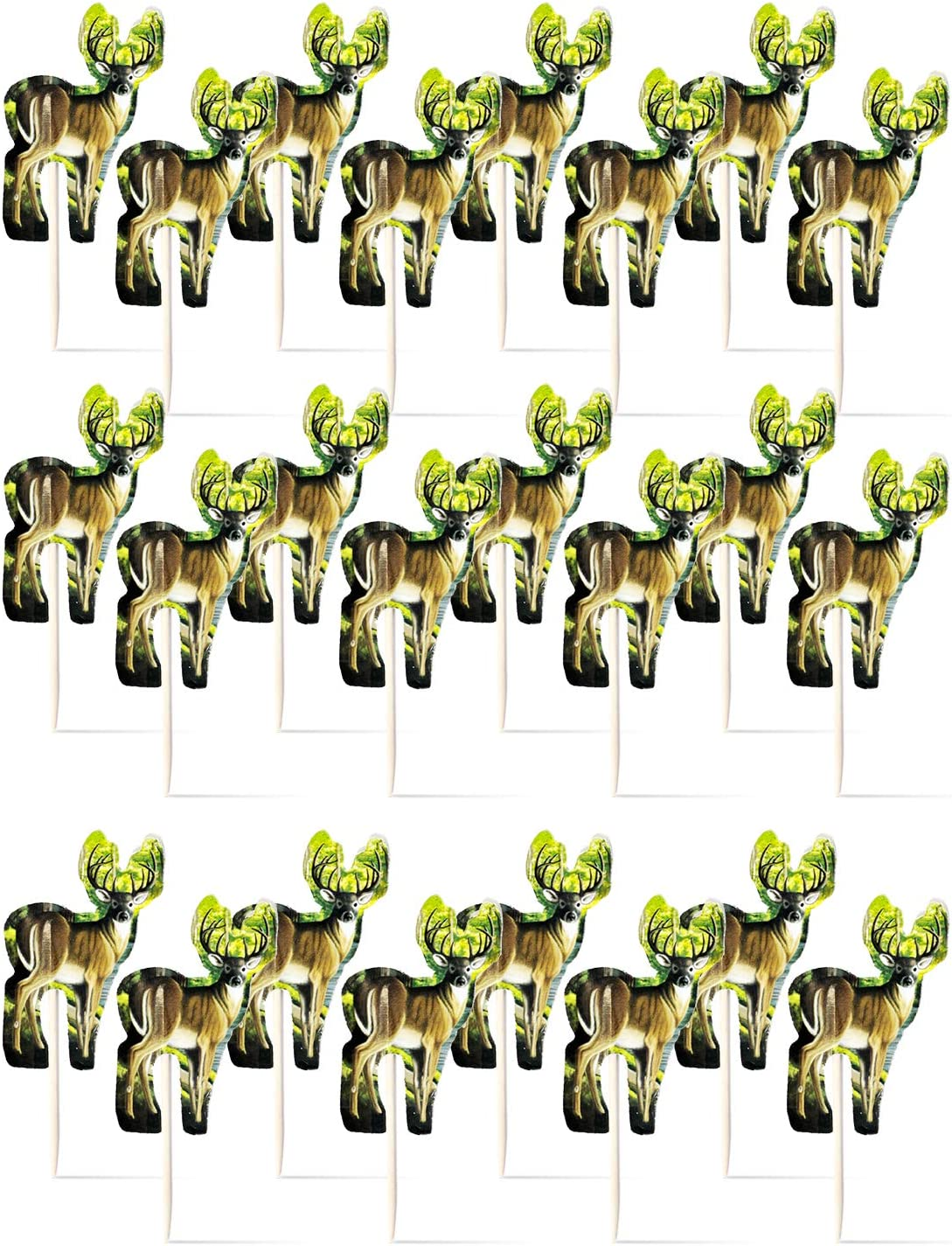Havercamp Next Camo Party Buck Picks   24 Count   Great for Hunter Themed Party, Camouflage Motif, Birthday Event, Graduation Party, Father's Day Celebration