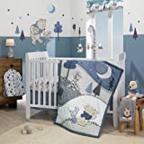 Lambs & Ivy Forever Pooh 3Piece Baby Crib Bedding Set, Blue