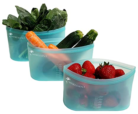 Bolsas de silicona reutilizables para congelador, bolsas de ...