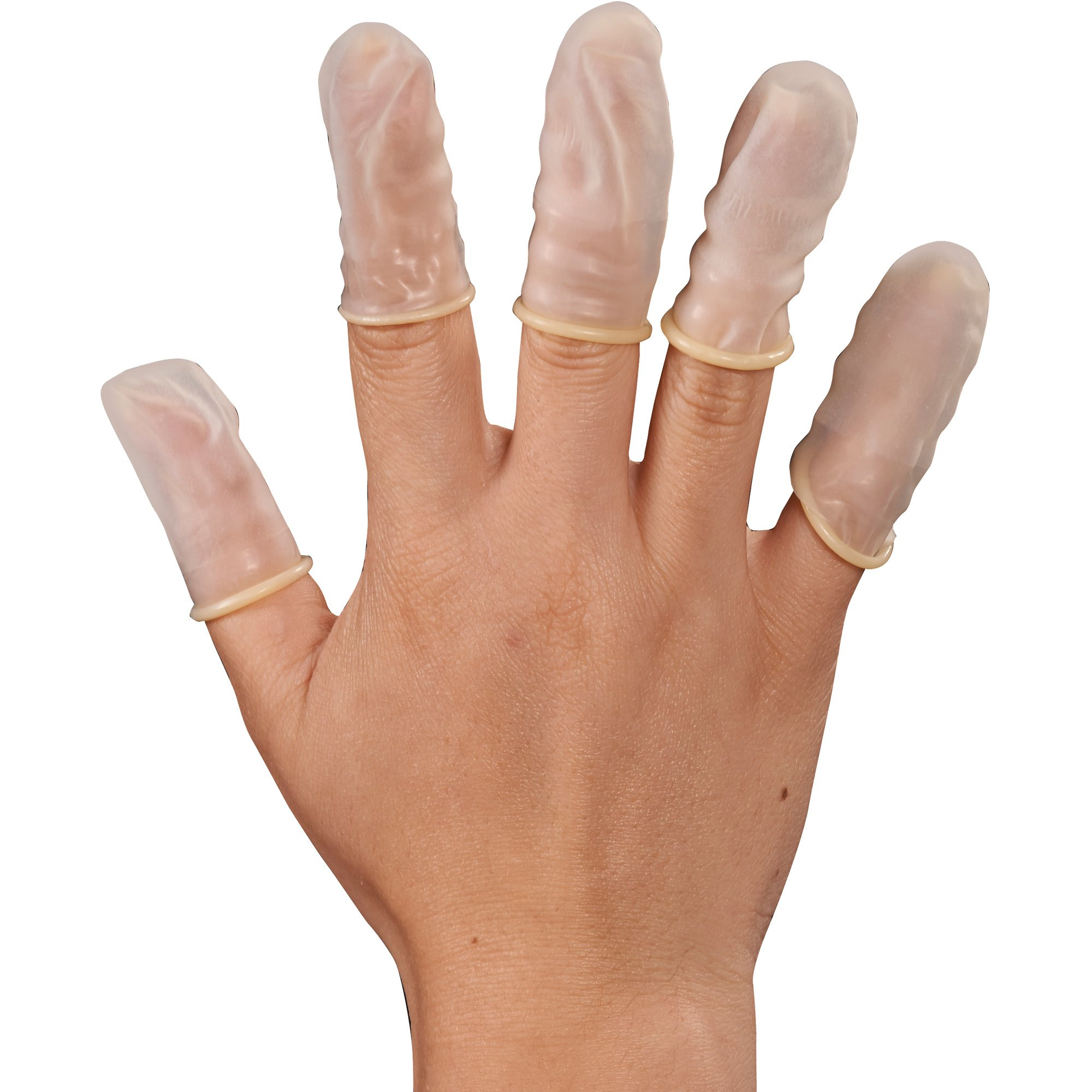 Aviditi GLV2201M Latex Finger Cots, Powder-Free, Medium (Case of 720)