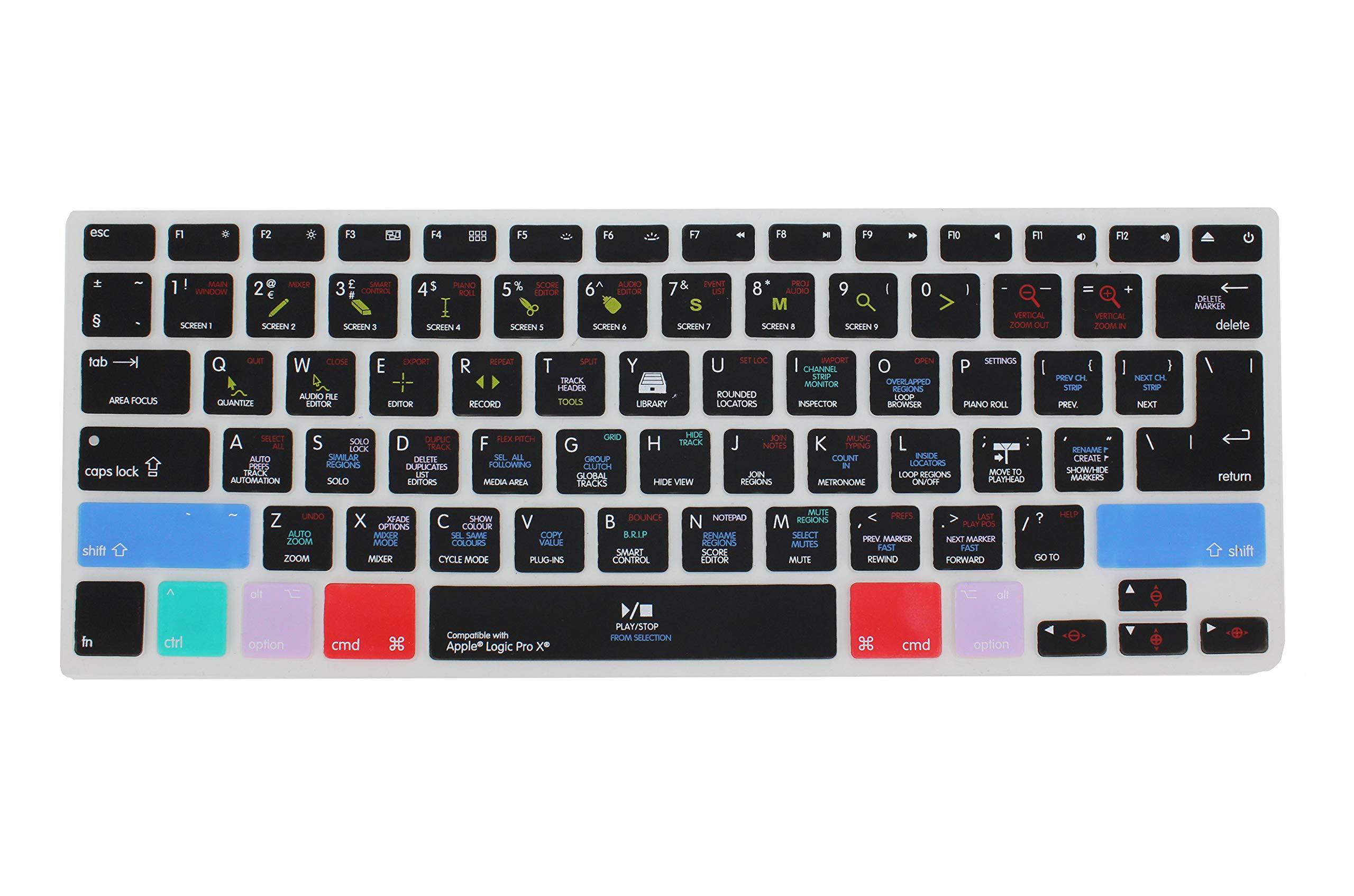 Saco Apple Logic Pro X 10 Shortcut Design Silicone Keyboard Skin Cover for MacBook 13 15 17 inch (US & EU Layout) - Black (B01MYRGXR5) Amazon Price History, Amazon Price Tracker