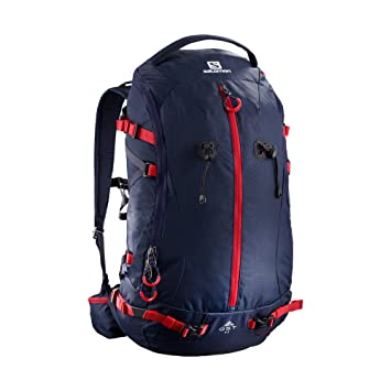 Salomon Bag QST 35 - Mochila, Unisex Adultos, Azul - (Night Sky/Barbados Cherry): Amazon.es: Deportes y aire libre