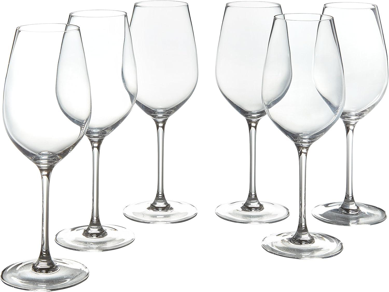 Amazon Brand – Stone & Beam Traditional White Wine Glass, 16-Ounce, Set of 6