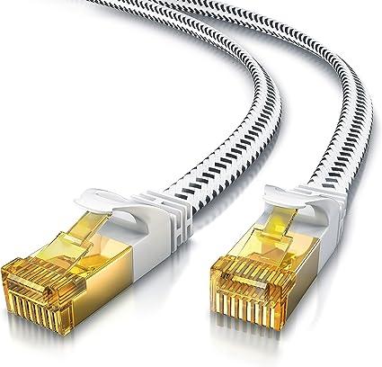 Csl 1m Cat 7 Netzwerkkabel Flach 10 Gbits Computer Zubehör