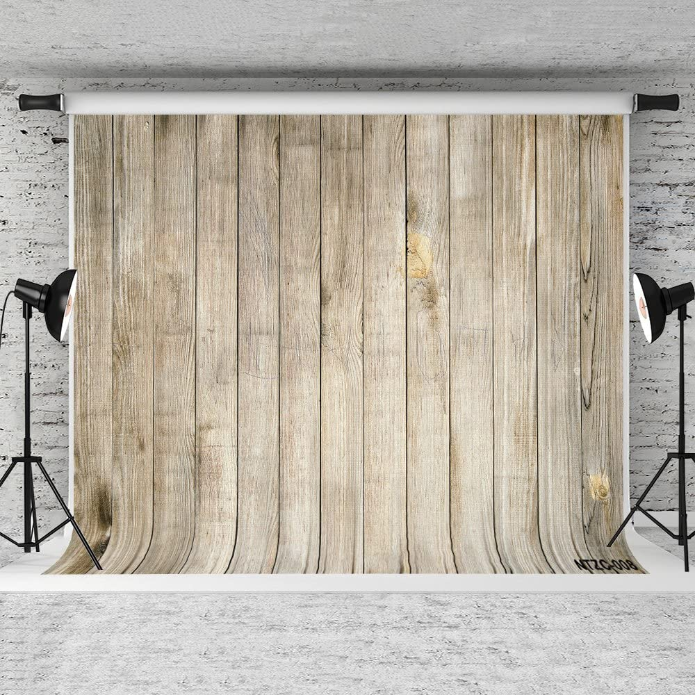 Wood Wall Photography Backdrop Retro Wood Plank Background Customized Cotton Cloth Photo Props 10x6.5ft