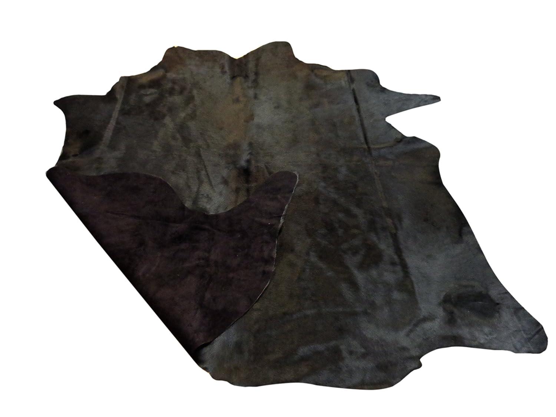 Narbonne Leather Co Ltd Piel de Vaca sudamericana Premium- Curtido de Calidad teñido de Negro- Aprox 2.1 m2/181cm x181cm- 128: Amazon.es: Hogar