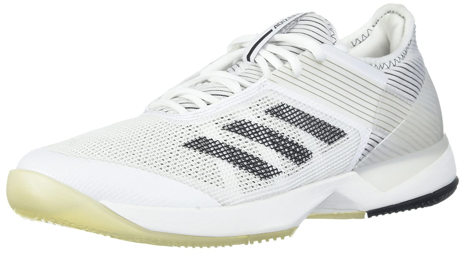 adidas Women's Adizero Ubersonic 3 W Tennis Shoe B07234KWWV 6 B(M) US|White/Core Black/White