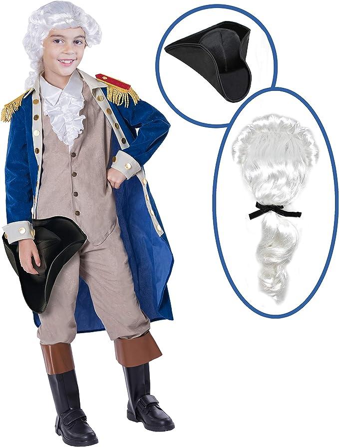 Fun World George Washington President USA Childrens Halloween Costume 115672