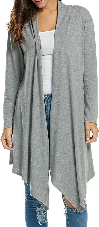 Women/'s Cardigan Duster Long Sweater Flyaway Open Front Long Sleeve Coat Jacket