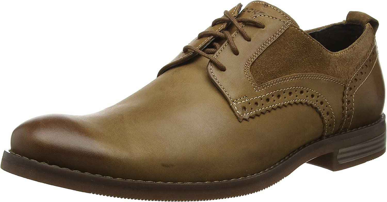 TALLA 40.5 EU. Rockport Wynstin Plain Toe Shoe, Zapatos de Cordones Oxford para Hombre