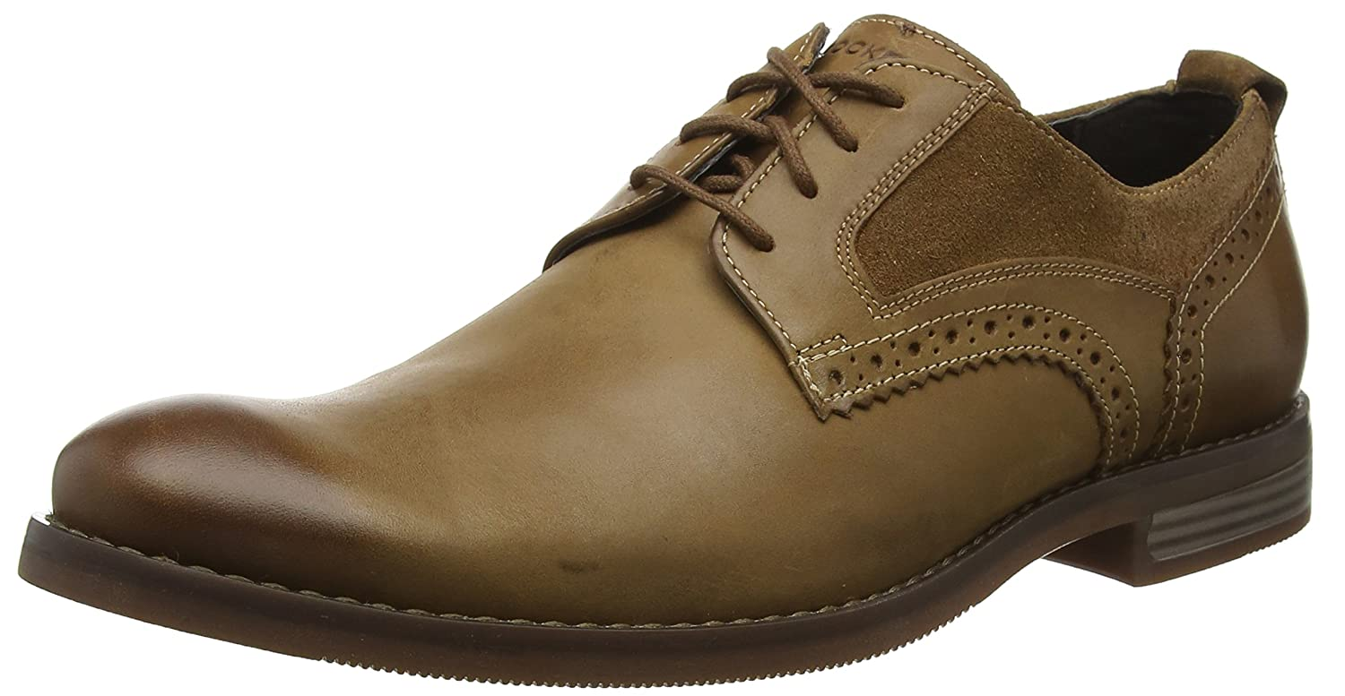 Rockport Wynstin Plain Toe Shoe, Zapatos de Cordones Oxford para Hombre