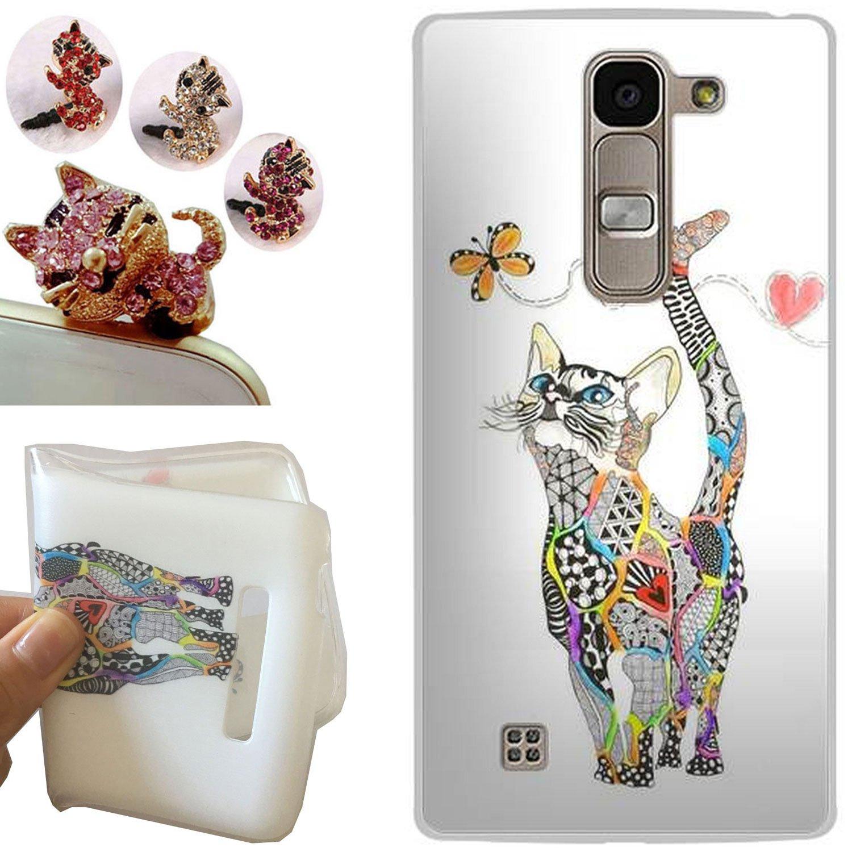 LG G4C funda - CatStyle LG G4C Carcasa,Suave TPU protectora de Silicona de Gel Funda Tapa Case Cover para LG G4C (G4 Mini/H525N) (Gato de la mariposa) ...