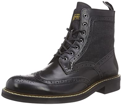 G-STAR Men's TRENT Brogue Boot Mix Unlined Classics Boots and Bootees