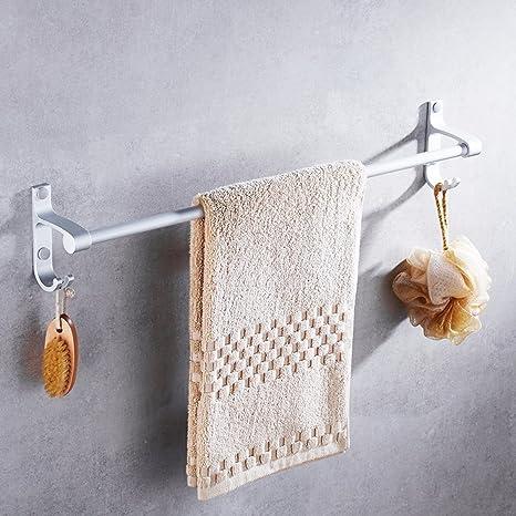 ZXC Bathroom racks Barra de Toalla de baño, Toalla de Aluminio Espacio Rack, Engrosamiento