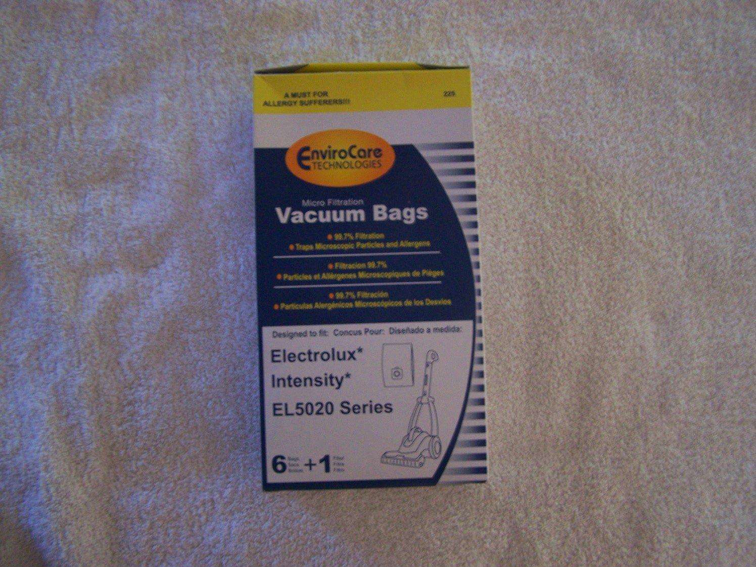 Electrolux Intensity EL5020 Series Micro Filtration Vacuum Bags 6 bags + 1 filter by EnviroCare