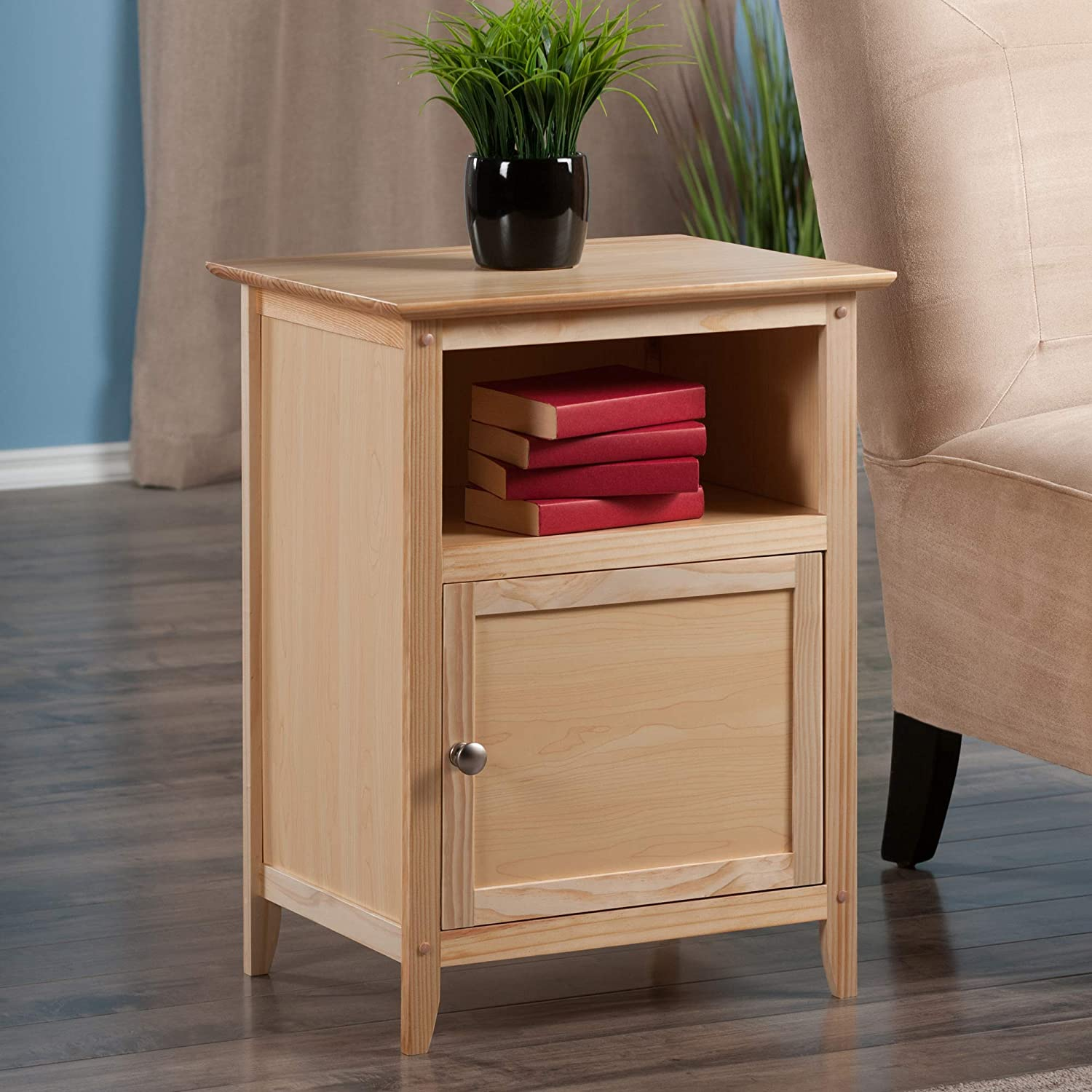 Natural Winsome Wood Henry Accent Table