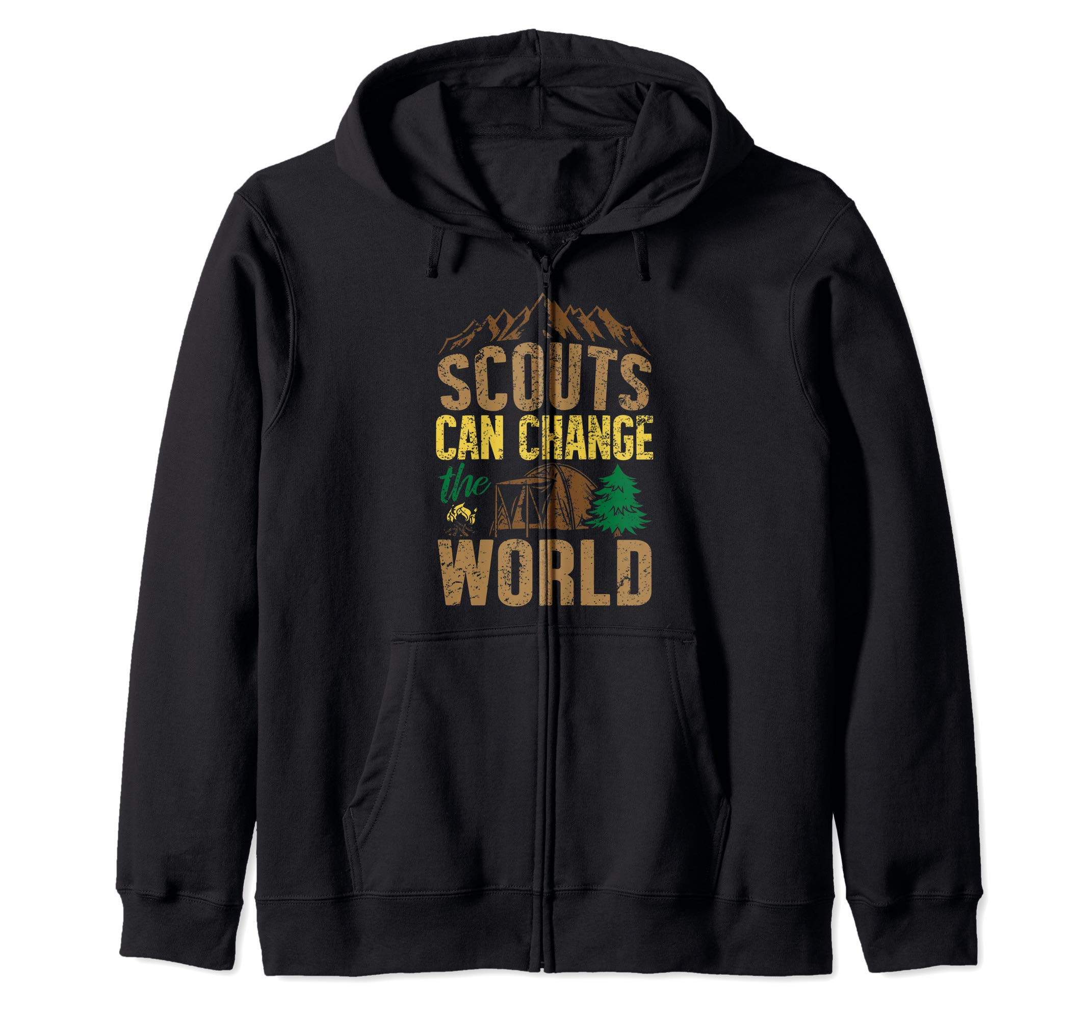 Scouts Can Change The World Den Cubs Troop Leader Boy Gift Zip Hoodie by Scouting Designs By Ark