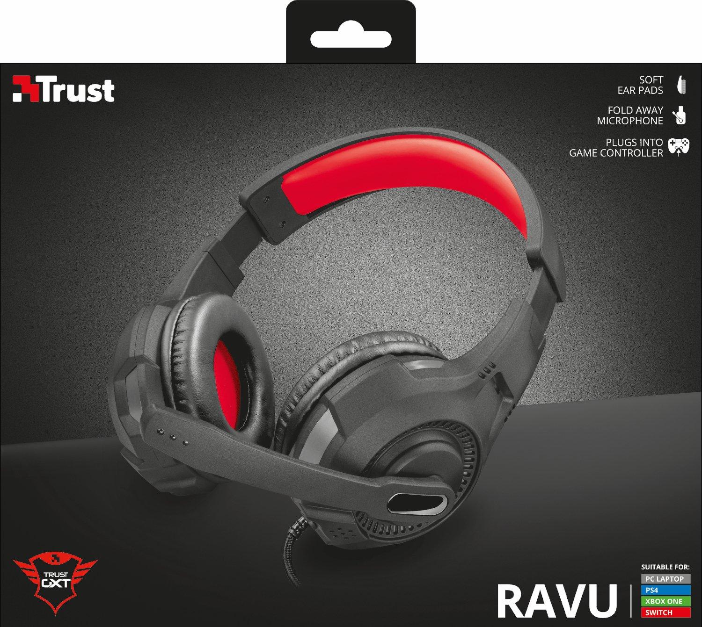 Trust Gaming GXT 307 Ravu - Auriculares Gaming Multi-Plataforma, Negro: Amazon.es: Informática