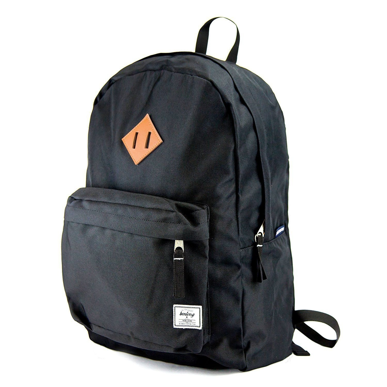 Benteng Premium Lightweight Water Resistant School Backpack with Aluminum Interior - Laptop Backpack that fits 15.6-Inch Laptop Notebook (Premium Black)