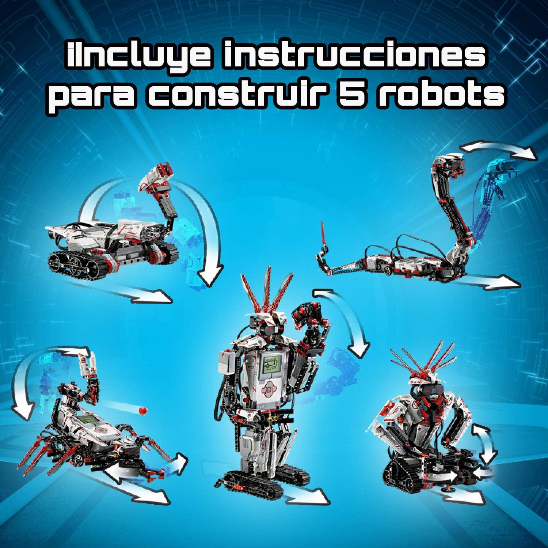 LEGO Mindstorms - EV3, Set de Robots de Juguete 5 en 1 Programables con Servo Motor y Bluetooth, Kit para Aprender a Programar para Niñas y Niños (31313): Amazon.es: Informática