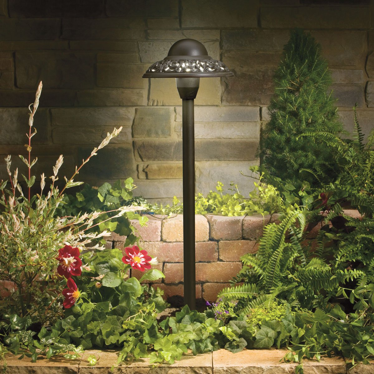 Kichler 15457AZT Path & Spread 1-Light 12V, Textured Architectural Bronze by KICHLER