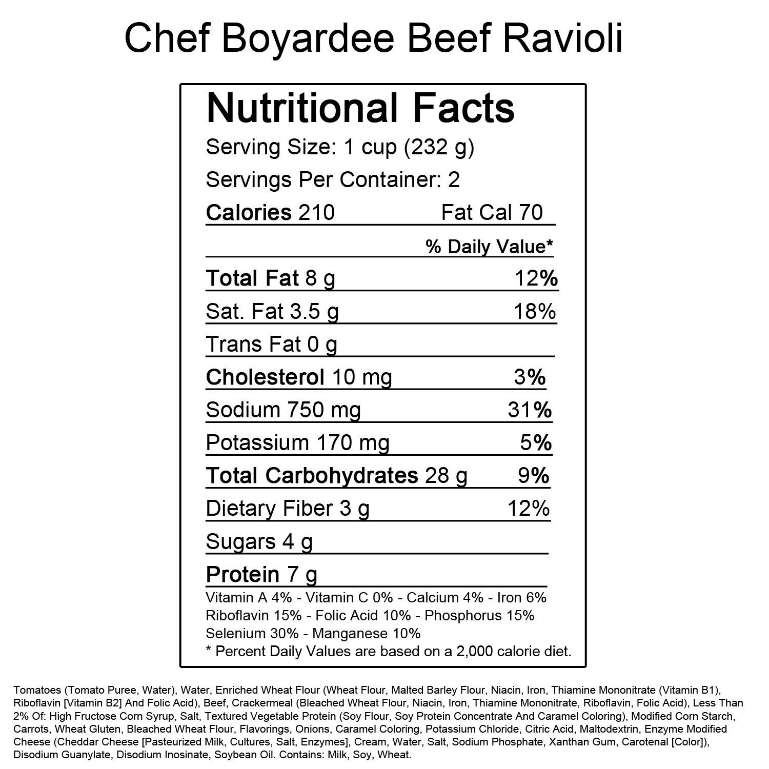 Chef Boyardee Big Micro Ravioli - 14.5 oz. Cup - 24 ct.: Amazon.com: Grocery & Gourmet Food