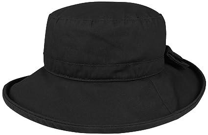 Amazon.com  Juniper Women s Waxed Cotton Canvas Wide Brim Bucket Hat ... 5f09ab247e1