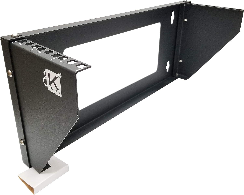 Kenuco 19 Inch Steel Vertical Rack and Wall Mountable Server Rack Mount (Black-3U)