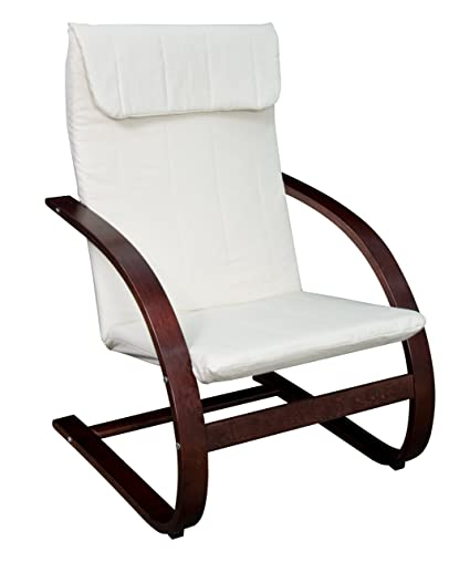 Top Amazon.com: Niche Mia Reclining Bentwood Chair,Mocha Walnut/Beige  VK44