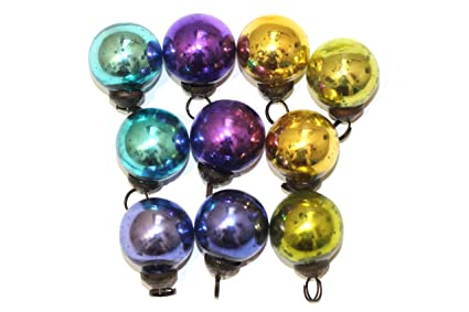 Antique Mercury Glass Ornaments Mix Plain