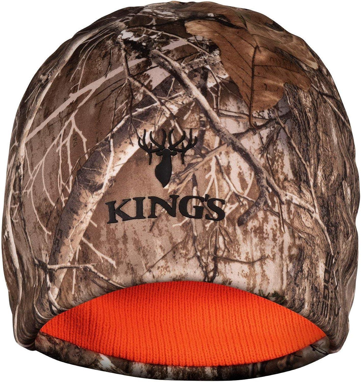 King/'s Camo Hunter Series Beanie Mountain Shadow Reversible Blaze Orange