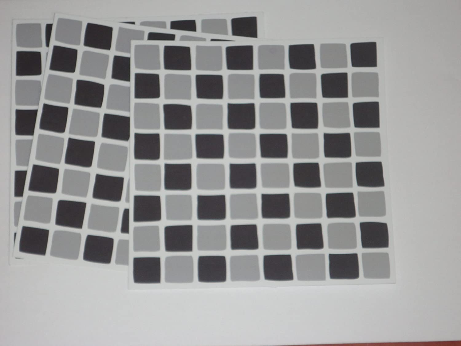 PACK OF 10 Black And Grey Mosaic Tile Transfers Stickers . Quickly  Transform Your Bathroom Or Kitchen Wall Tiles, Self Adhesive, Quick And  Mess Free: ...