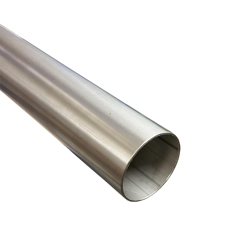 Tubo de acero inoxidable 45 mm de diá metro x 500 mm (0, 5 m) V2 A Tubo de escape Tubo de acero inoxidable 1.4301 5m) V2A Tubo de escape Tubo de acero inoxidable 1.4301 Alutec