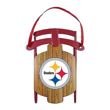 NFL Pittsburgh Steelers Football Metal Sled Christmas Ornament - Amazon.com : NFL Pittsburgh Steelers Football Metal Sled Christmas