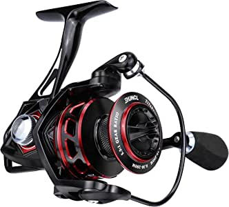 RUNCL Spinning Reel Titan II, Fishing Reel - Full Metal Body, Max Drag 44LB, 5 Carbon Fiber Washers, 9+1 Shielded Ball Bearings, Braid-Ready Spool, Hollow Out Rotor - Saltwater & Freshwater Fishing
