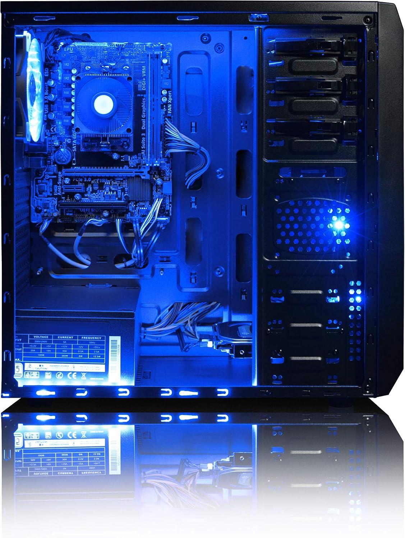 VIBOX Sharp Shooter 7S Gaming PC Ordenador de sobremesa con Cup/ón de Juego 4,0GHz AMD FX Quad-Core Procesador, Nvidia GeForce GTX 1050 Tarjeta Grafica, 8GB RAM, 1TB HDD Win 10 22 HD Monitor