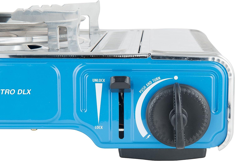 CAMPINGAZ Camp Bistro DLX - Hornillo de Gas Compacto para Acampada (1 luz, 2200 W, con protección contra sobrecalentamiento y maletín de Transporte)