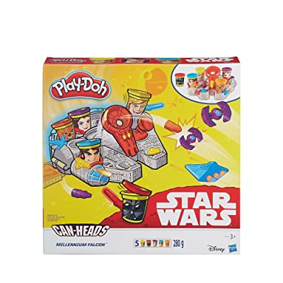 Play-Doh Star Wars Millennium Falcon Featuring Can-Heads by Play-Doh: Play-Doh: Juguetes y juegos