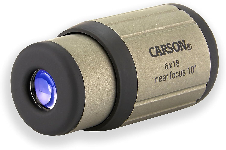 Carson 10x25 BlackWave Monoculaire /Étanche Avec Mise Au Point Rapproch/ée Jusqu/'/à 1,2 m