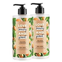 Love Beauty & Planet Majestic Moisture Body Wash Shea Butter & Sandalwood, Vegan...