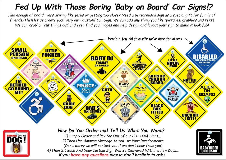 Se/ñal de coche con ventosa para beb/é con texto en ingl/és Little Lady On Board