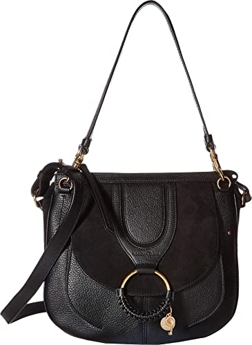 b0a3eb5e2a6f9 Amazon.com  See by Chloe Women s Hana Suede   Leather Tote Black One ...