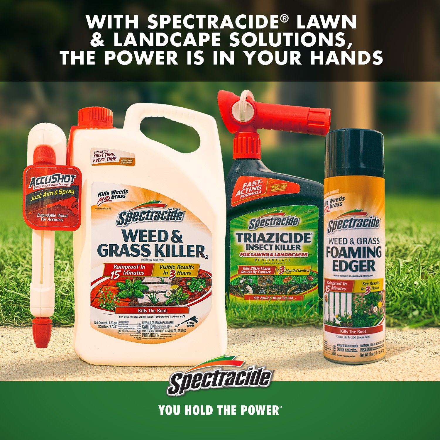 Spectracide HG-96624 Concentrate, Weed Stop Plus Crabgrass Killer Lawns, Black by Spectracide