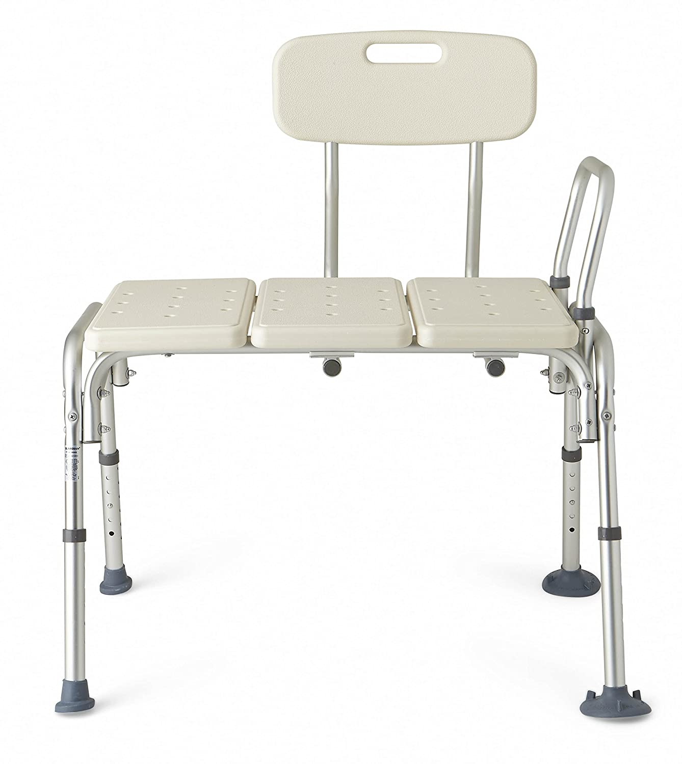 Amazon.com: Medline Transfer Bench with Back and Push Buttons ...