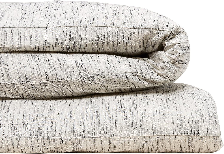 Calvin Klein Home Modern Cotton Strata Duvet Cover, Queen, Marble