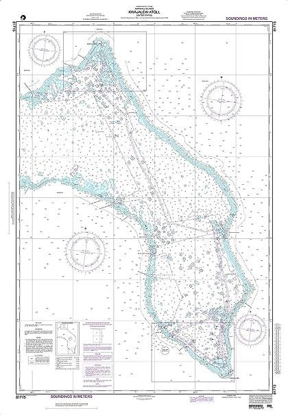 Amazon.com: NGA Chart 81715 Kwajalein Atoll 34